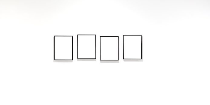 white wall with blank frame museum nice