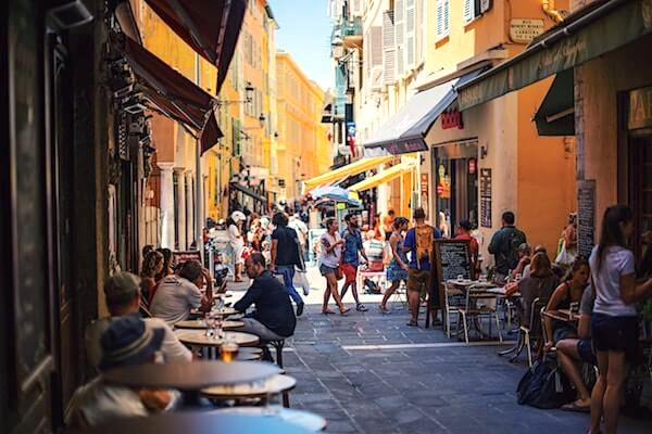 street cafe old town best of nice