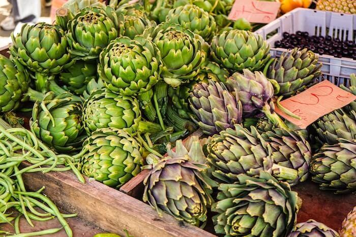 artichokes outdoor market south france