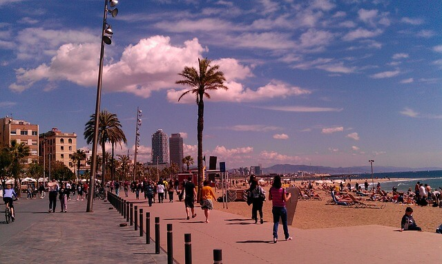 beach at barceloneta