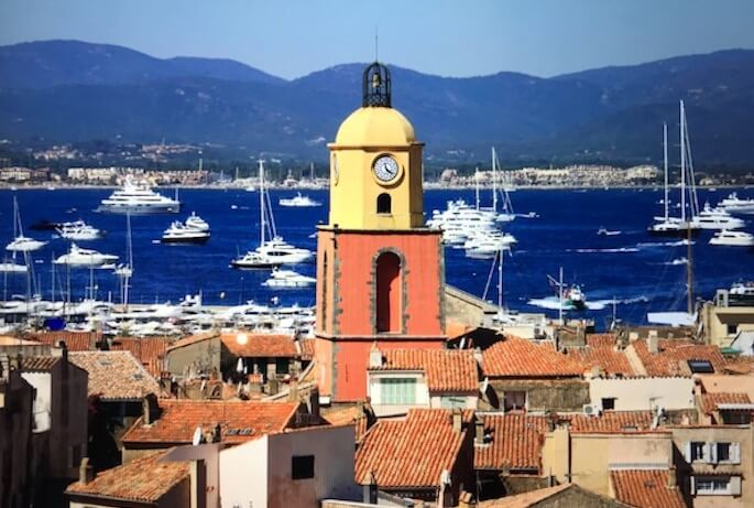 view of saint tropez and sea