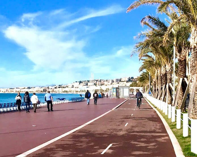 bike path places to visit in Nice