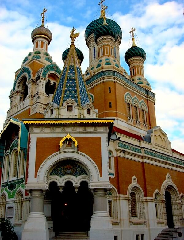 facade russian cathedral best of nice