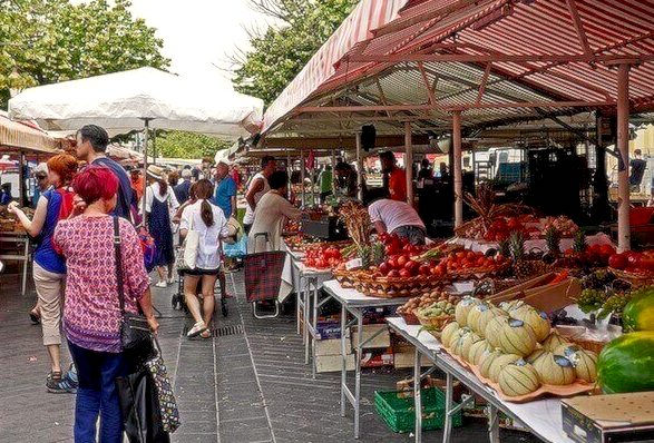 outdoor market saleya south france