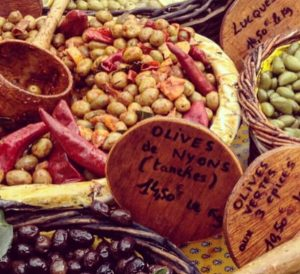 olives outdoor market france
