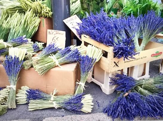 lavender st tropez outdoor market south france