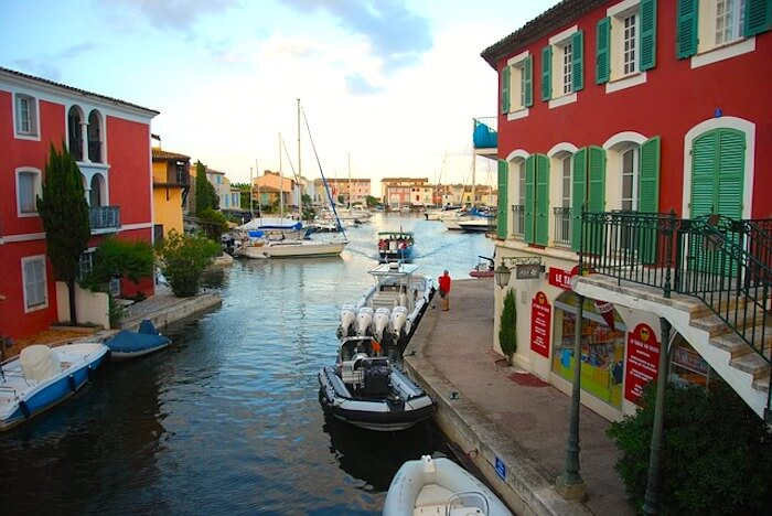 view of canal port grimaud french riviera beaches