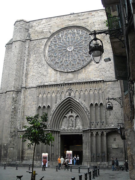 Santa Maria del Pi barcelona church