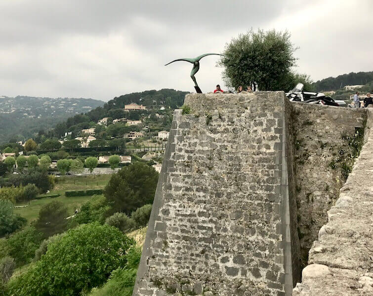 saint paul de vence view of hill sculpture