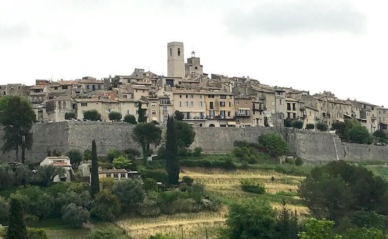 view of saint paul de vence from far