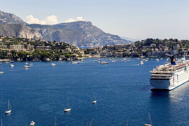 villefranche cruise sea boat french riviera beaches