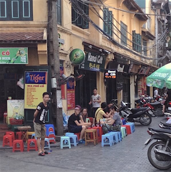 hanoi neighborhood cafe