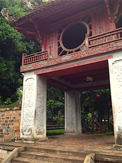 old structure temple of literature hanoi