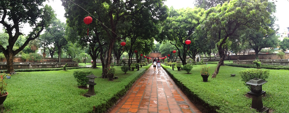 path in garden temple of literature hanoi