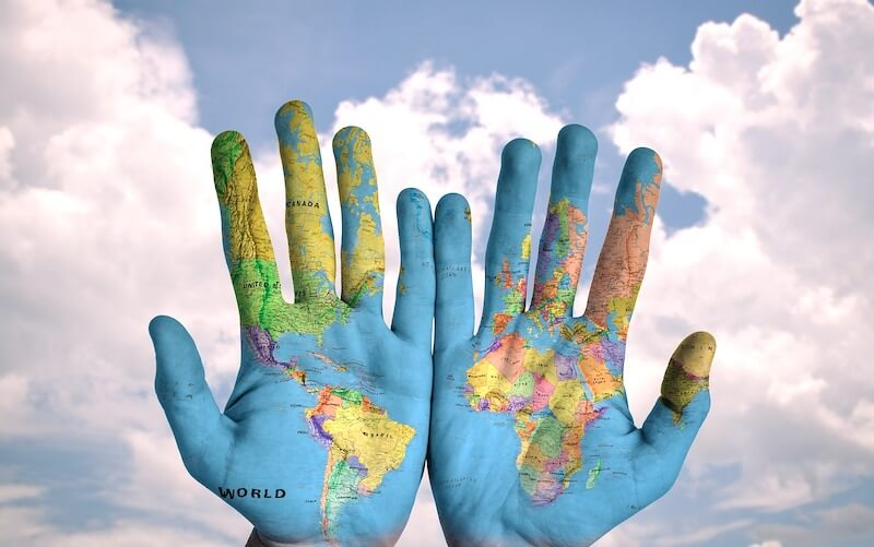 travel world hands