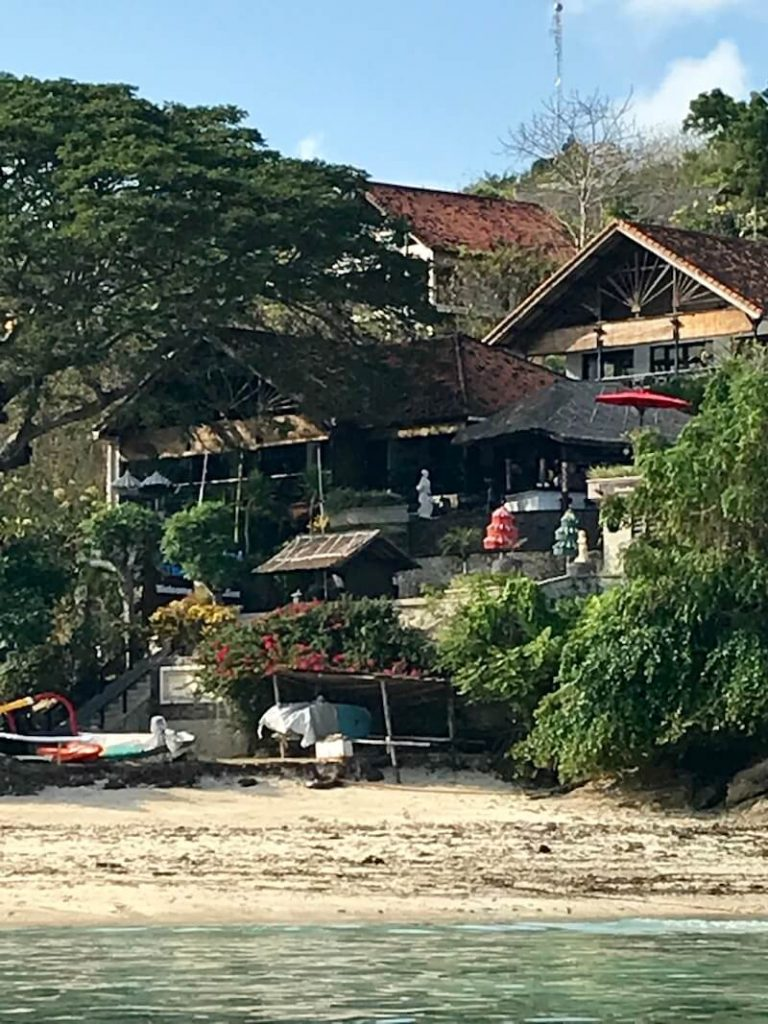 house on the beach on Nusa Lembongan