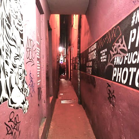 red light district alley