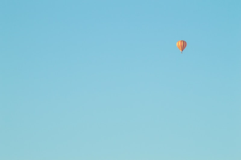 blue background with baloon
